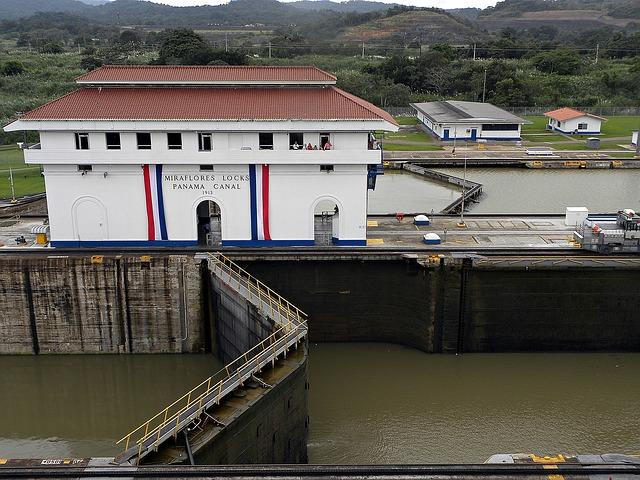 Canal de Panama : l'écluse de Miraflores