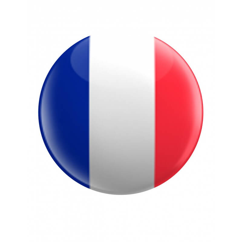 drapeau francais rond